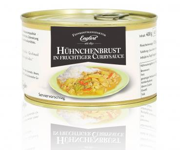 Hühnchenbrust in fruchtiger Currysauce, 400g/Dose